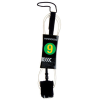 Maddog Surfboard Leash 9' Clear