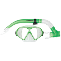 Mirage Adult Tropic Silitex Mask and Snorkel Set Green
