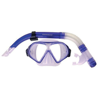 Mirage Adult Freedom Silicone Mask and Snorkel Set Green