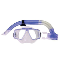 Mirage Adult Quest Silicone Mask and Snorkel Set Green
