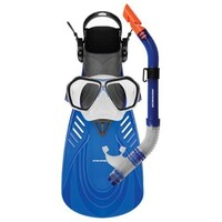 Mirage Fiji Silicone Mask, Snorkel & Fins Set Blue