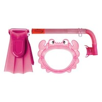 Mirage Aqua Junior Silitex Mask Snorkel & Fin Set Pink