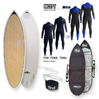 FIND™ Blitz Ecoflex Bamboo Surfboard + Cover + Leash + Incept/Tex Wetsuit