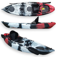 FIND Stealth 2.7 Single Fishing Kayak Killer Camo with Deluxe Seat, Paddle & Rod Holder