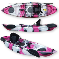 FIND Stealth 2.7 Single Fishing Kayak Poison Camo with Deluxe Seat, Paddle & Rod Holder