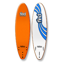 "FIND 7'0"" Tuffrap Thruster Soft Surfboard Softboard Orange"