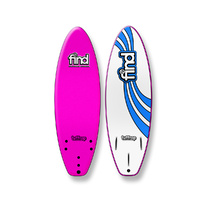 "FIND 5'6"" Tuffrap Thruster Soft Surfboard Softboard Pink"
