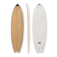 "FIND Quadfish Duralite 6'6"" Bamboo Surfboard"
