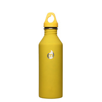 Mizu M8 Soft Touch Hydration Bottle 27oz (800ml) with Loop Cap - Yellow