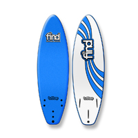 FIND 6'0'' Tuffrap Soft Surfboard Thruster NEON BLUE - 3 Fin