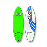 FIND 5'6'' Tuffrap Soft Surfboard Thruster NEON GREEN - 3 Fin
