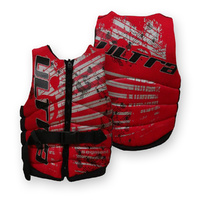 Ultra - Adult Segment Neo Life Vest Life Jacket PFD [Level 50] - Red
