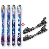 Five Forty Snow Skis Hulappani Pastel Rocker Sidewall 125cm with Binding Package