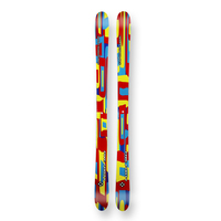 Five Forty Snow Skis Shattered Red Rocker Sidewall 145cm