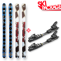 Five Forty Snow Skis Beach Camber Sidewall 155cm with Binding Package