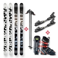 Five Forty Snow Skis Shattered Glass Camber Sidewall 175cm with Binding, Boots, Poles Package