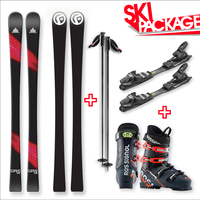 FIND™ Carve Capped Skis 148cm with Binding, Boots, Poles Package