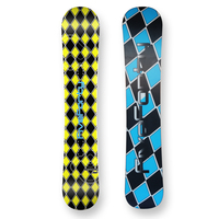 Five Forty Snowboard Reverse Yellow Flat Sidewall 158cm