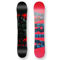 Aria Snowboard Draw Liner Red Camber Capped 157.5cm