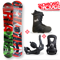 Aria Snowvibes Camber Capped Snowboard Package with Bindings & Boots