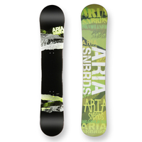 Aria Snowboard Draw Liner Green Camber Capped 157cm