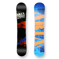 Aria Snowboard Draw Liner Orange And Blue Camber Capped 157cm