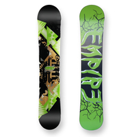 Empire Snowboard Zarooni Green Flat Camber Capped 155cm