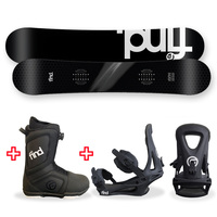 FIND™ FSX Sidewall Snowboard Package with Realm ATOP Cable Boot and TRACTION Binding