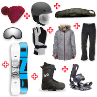 FIND™ Venture Sidewall Snowboard Package with Realm ATOP Cable Boot and Rear Entry SP Binding + Women Head to Toe Package