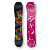 CSB Snowboard 144cm Confetti Black Twin Tip Camber Capped