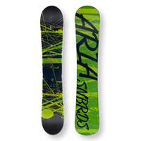 ARIA Snowboard 151.5cm Drawliner Green Twin Tip Camber Capped