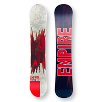 EMPIRE Snowboard 149cm Stream Red Twin Tip Camber Capped