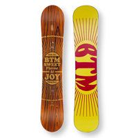 BTM Snowboard 142cm Wooden Thug Face Twin Tip Camber Sidewall