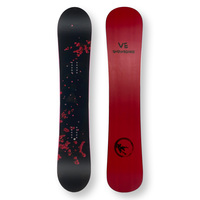 VE Snowboard 145cm Snowboard Pink Flowers Twin Tip Camber Sidewall
