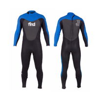 FIND™ Mens Steamer Long Sleeve & Leg 3mm/2mm Neoprene Wetsuit With Knee Pads