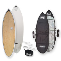 FIND™ Blitz Ecoflex Bamboo Surfboard + Cover + Leash Package