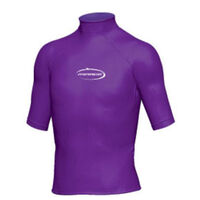 Mirage Junior Lycra Rash Short Sleeve Shirt Purple